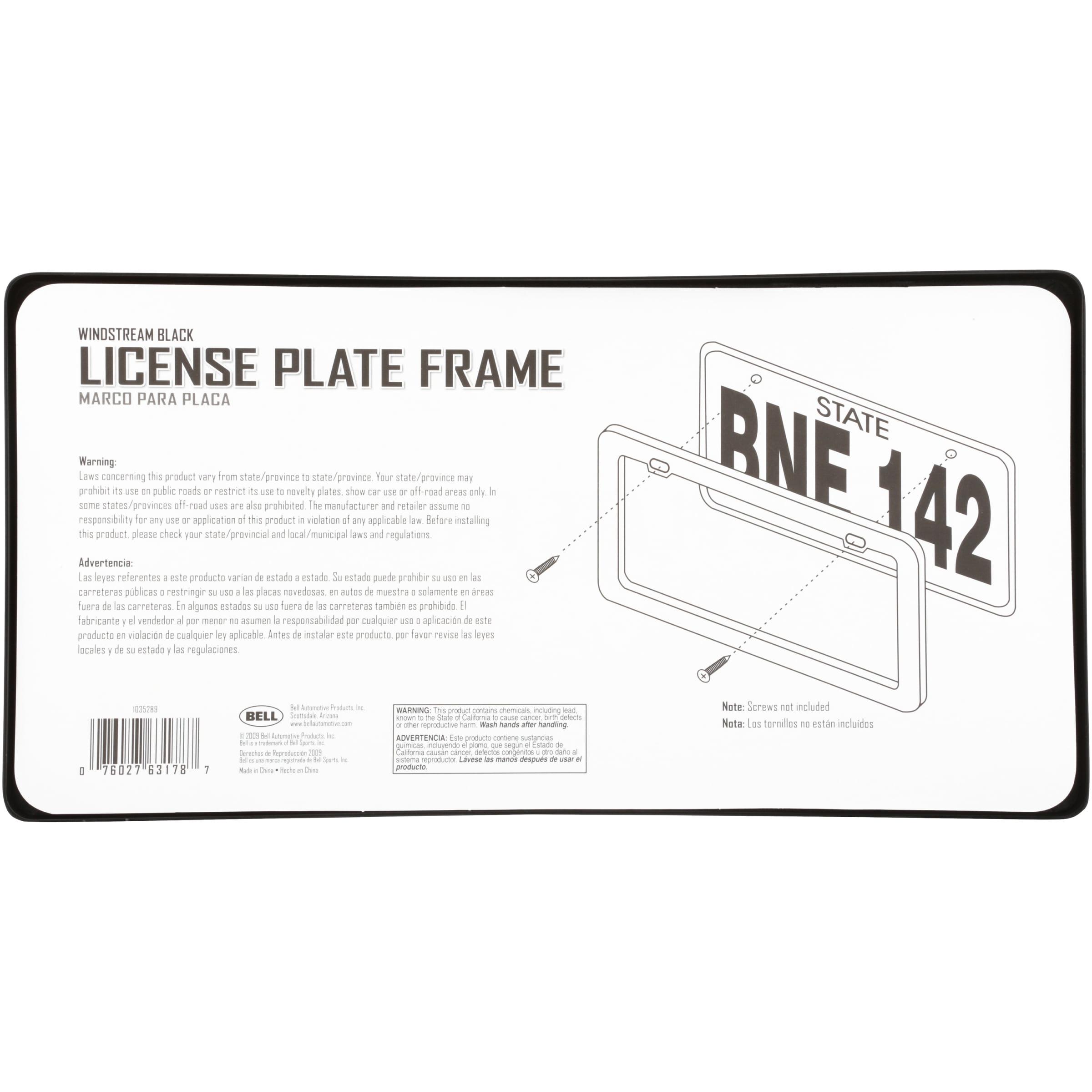 Black License Plate Frame Live Love Tennis Auto Accessory Novelty
