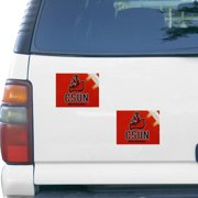 "Cal State Northridge Matadors 5"" x 6"" Rectangular 2-pack Car Magnet Set"