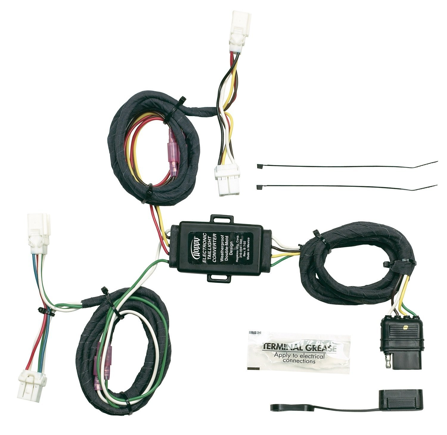 Hopkins 43565 Plug-In Simple Vehicle Wiring Kit, T-Connectors allow you to  connect your trailer's wiring system into your vehicle's wiring.., ...