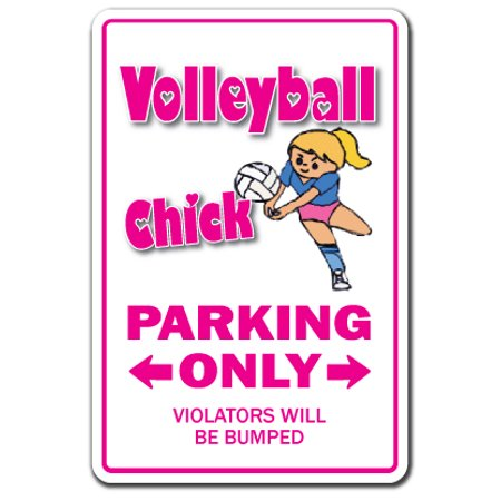 """VOLLEYBALL CHICK Decal sport team sand beach coach volley ball player game   Indoor/Outdoor   5"""" Tall"""