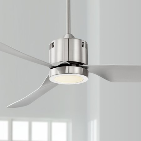 52 Casa Vieja Modern Ceiling Fan With Light Led Brushed