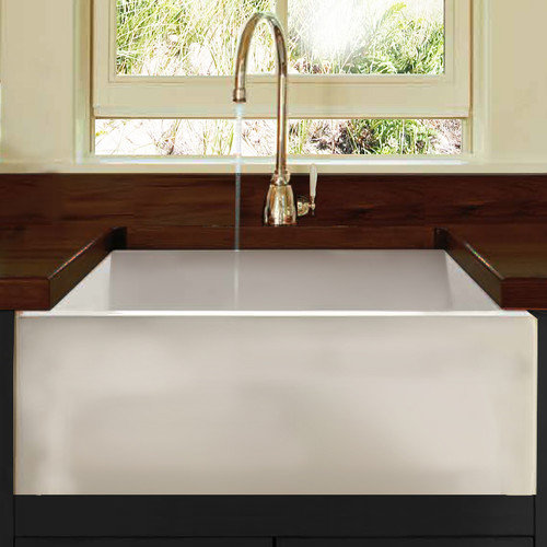 Nantucket Sinks Cape 24'' x 18'' Fireclay Farmhouse Apron Kitchen Sink