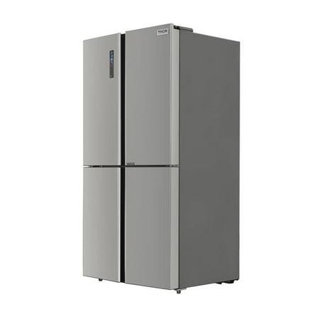 Thor Kitchen HRF3603F 36 in. Counter-Depth 4 Door French Door Refrigerator with Ice (Best 36 Counter Depth Refrigerator)