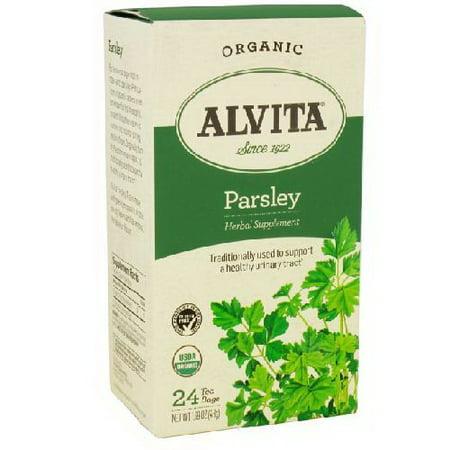 Alvita thés biologiques La caféine Persil gratuite Sachets de thé - 24 Ea