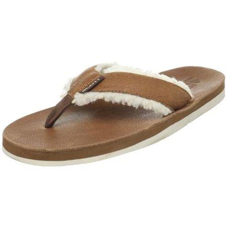 589ea12b7fbb Scott Hawaii - Scott Hawaii Mens Niihau Leather Faux Fur Flip-Flops -  Walmart.com
