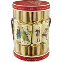 Robin Reed English Holiday Christmas Crackers, Pack of 12 - 12 Days of Christmas, 10 Inch