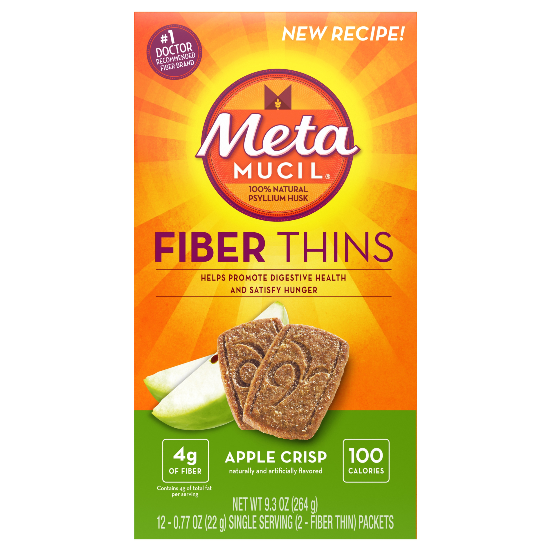 Metamucil Apple Crisp Fiber Thins Fiber Supplement, 12 servings