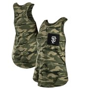 San Francisco Giants New Era Women's 2021 Armed Forces Day Brushed Camo Racer Back Tank Top - Green/Black