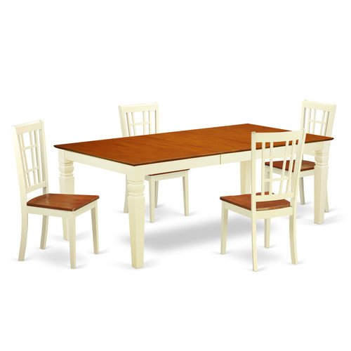 Darby Home Co Beesley 5 Piece Solid Wood Dining Set