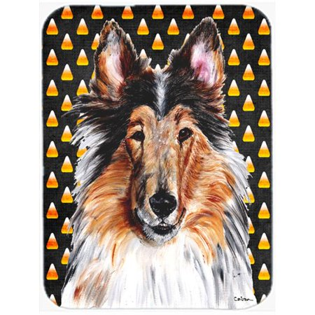 Black And White Collie Candy Corn Halloween Mouse Pad, Hot Pad Or Trivet, 7.75 x 9.25 In. - image 1 de 1