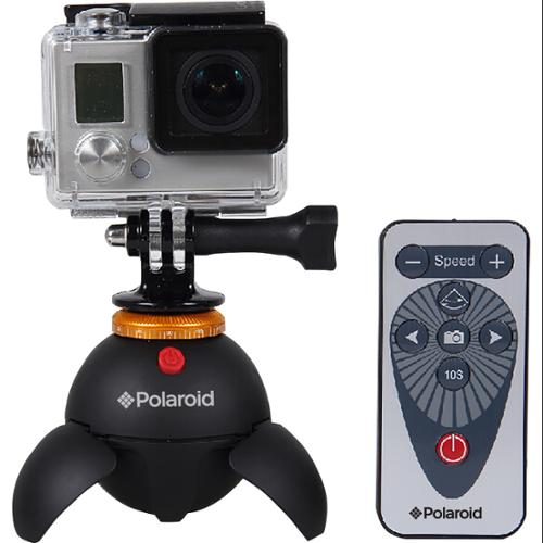Polaroid Rechargeable Panorama EyeBall Head w/Attachments for GoPro Action Cameras, Bluetooth Digital Devices & All Tripod Mounted Cameras & Camcorders