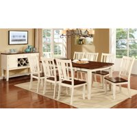Bowery Hill 9 Piece Extendable Dining Set in White