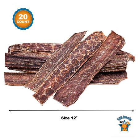 Beef Esophagus for Dogs 12 inches | 20 Count | All Natural Beef Chews | Meat Jerky treats from Free-Range Grass Fed Cattle with No Hormones, Additives or Chemicals | From 123