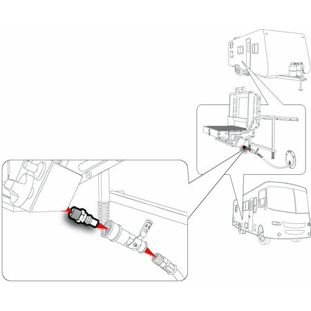 Propane Quick-Connect Fitting -For Use with Low-Pressure Propane Systems, Easy Install 1/4