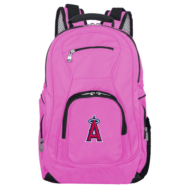 MLB Los Angeles Angels Pink Premium Laptop Backpack