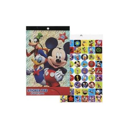 Disney Mickey Mouse Clubhouse Foil Cover 4 Sheet Sticker Pad with Over 200 Stickers 81448 Disneys Cars Sticker Sheets