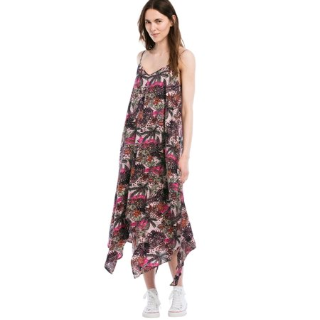 Ellos Plus Size Printed Hanky Hem - Dress Handkerchief Hem