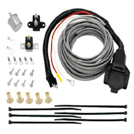 Pre-Wired Brake Mate Kit Adapter, 7-Way Flat Pin Connector with Brake Control Wiring Installation Kit Replacement Auto Part, Easy to Install