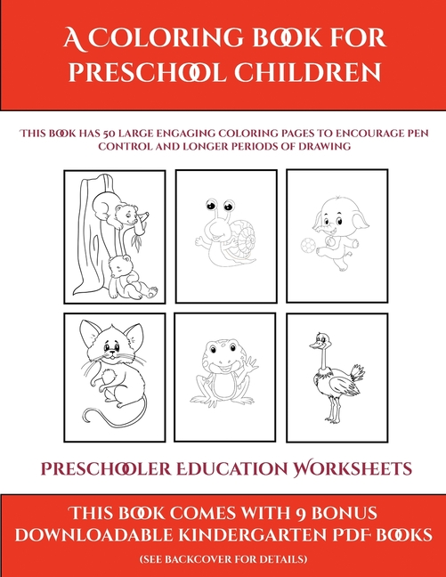 Preschooler Education Worksheets: Preschooler Education Worksheets (A  Coloring Book For Preschool Children): This Book Has 50 Extra-large  Pictures With Thick Lines To Promote Error Free Coloring To In -  Walmart.com - Walmart.com