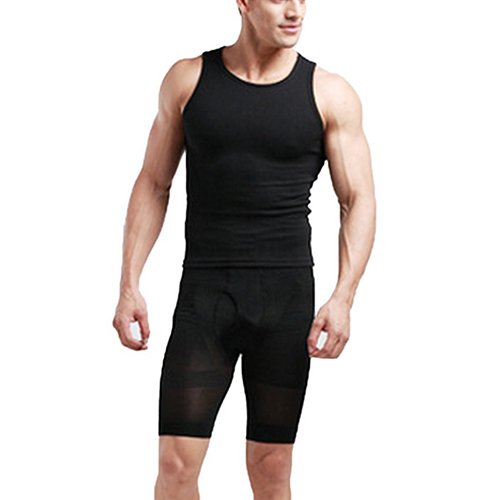 c1bb0d4b33 bluelans - Men High Waist Trainer Bodysuit Slimming Body Shaper Shorts Slim  Fit Sport Pants - Walmart.com