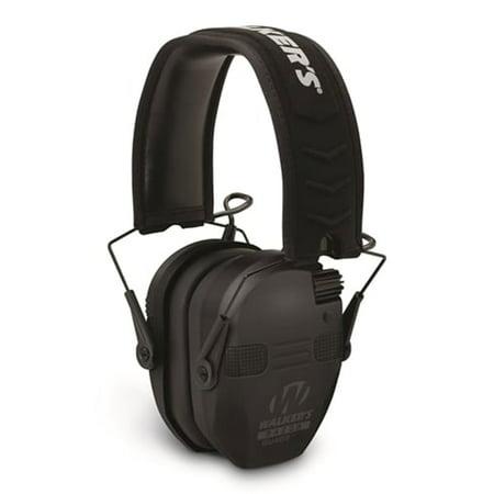 Walker's Razor Slim Electronic Quad Ear Muff, Black