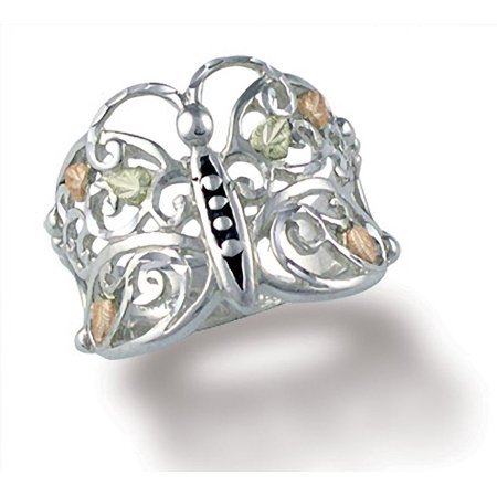 Black Hills Gold Butterfly Ring in Sterling Silver Black Hills Gold Silver Ring