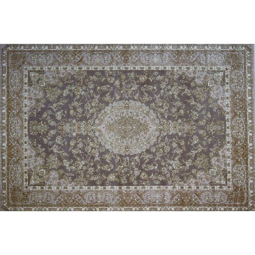 Astoria Grand More Hand Look Persian Wool Ivory/Brown Area Rug