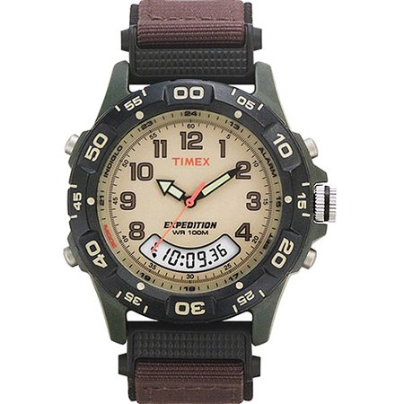Timex Mens Expedition Combo Watch  Brown Nylon Strap