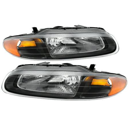 TD Crystal Headlights (Black) - 96- 00 Chrysler Sebring (2000 00 Sebring Convertible)