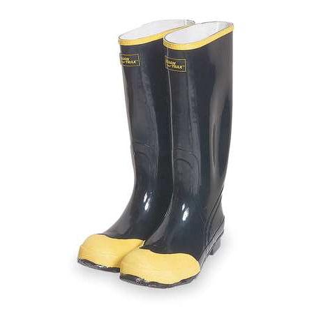 Knee Boots, Sz 12, 16 H, Black, Stl, PR TALON TRAX