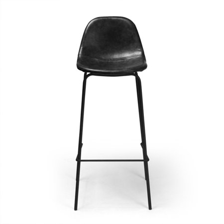 Aeon Furniture Maxine Modern Upholstered Faux Leather Barstool - Set of (Modern Upholstered Bar Stool)