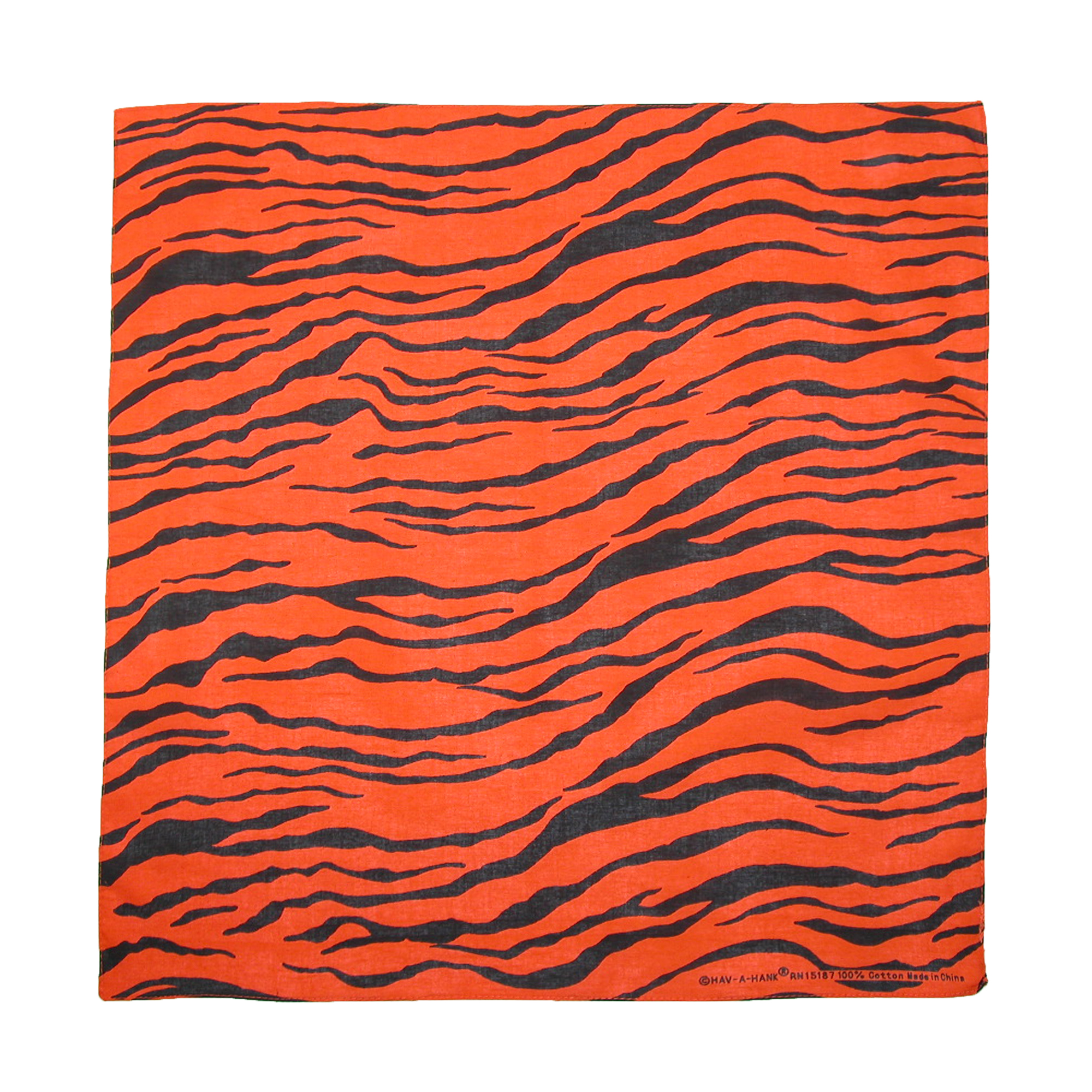CTM®  Womens Cotton Neon Zebra Print Bandanas, Orange