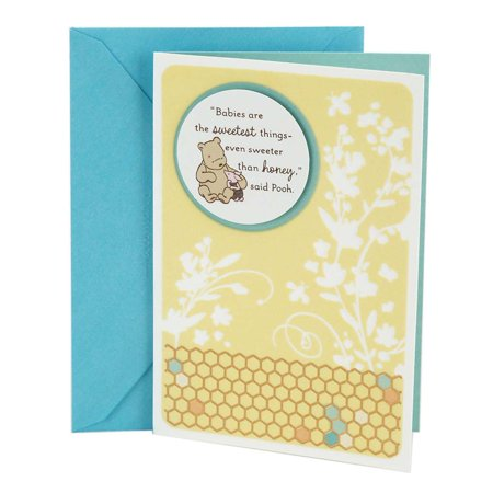 Hallmark Baby Shower Card (Winnie the Pooh) - Baby Shower Cards