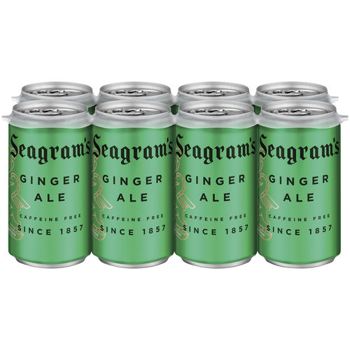 Seagram's Ginger Ale, 7.5 oz, 8 pack