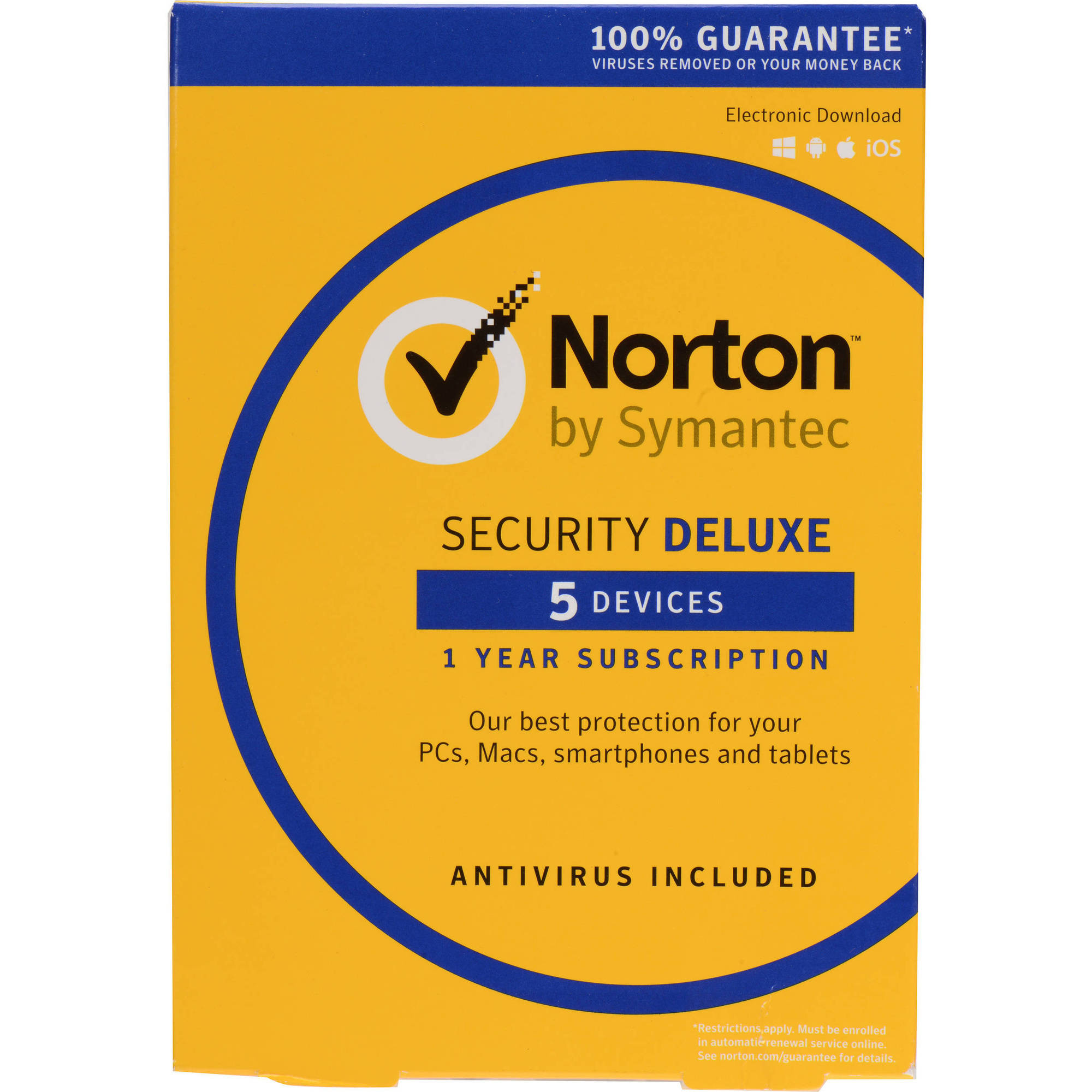 Symantec 21358875 Norton Security Deluxe, 5 Devices (Email Delivery) by Symantec