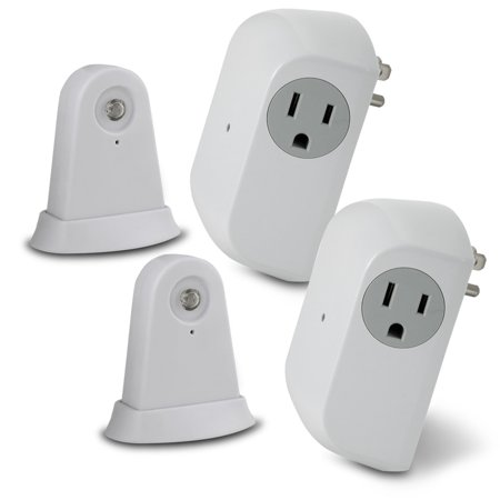 Wireless Dusk To Dawn Security Light Control With Outlet Receiver  Set Of 2   Xsdp  45164   Easily Control Your Indoor Lamps Using The Power Of Light With The Utilitech Wireless Dusk To Dawn Secu