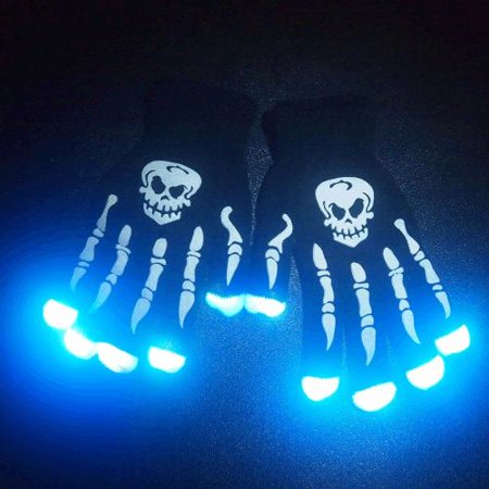 Glowing Skeleton - Glowing Skeleton Hands LED Gloves