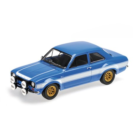1970 Ford Escort I RS FAV 1600 Blue with White Stripes Limited Edition to 504pcs 1/18 Diecast Model Car  by Minichamps (1970 Ford Escort)
