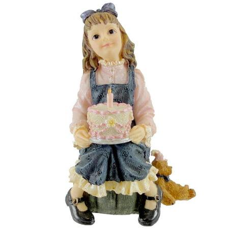 Boyds Bears Resin Kaitlyn Make A Wish Birthday Dollstone - Resin 3.75 IN