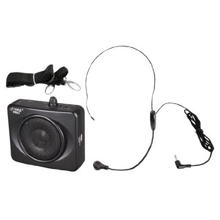 (PylePro PWMA60UB 50W Portable, USB Waist-Band Portable PA System with Headset Microphone, Black)