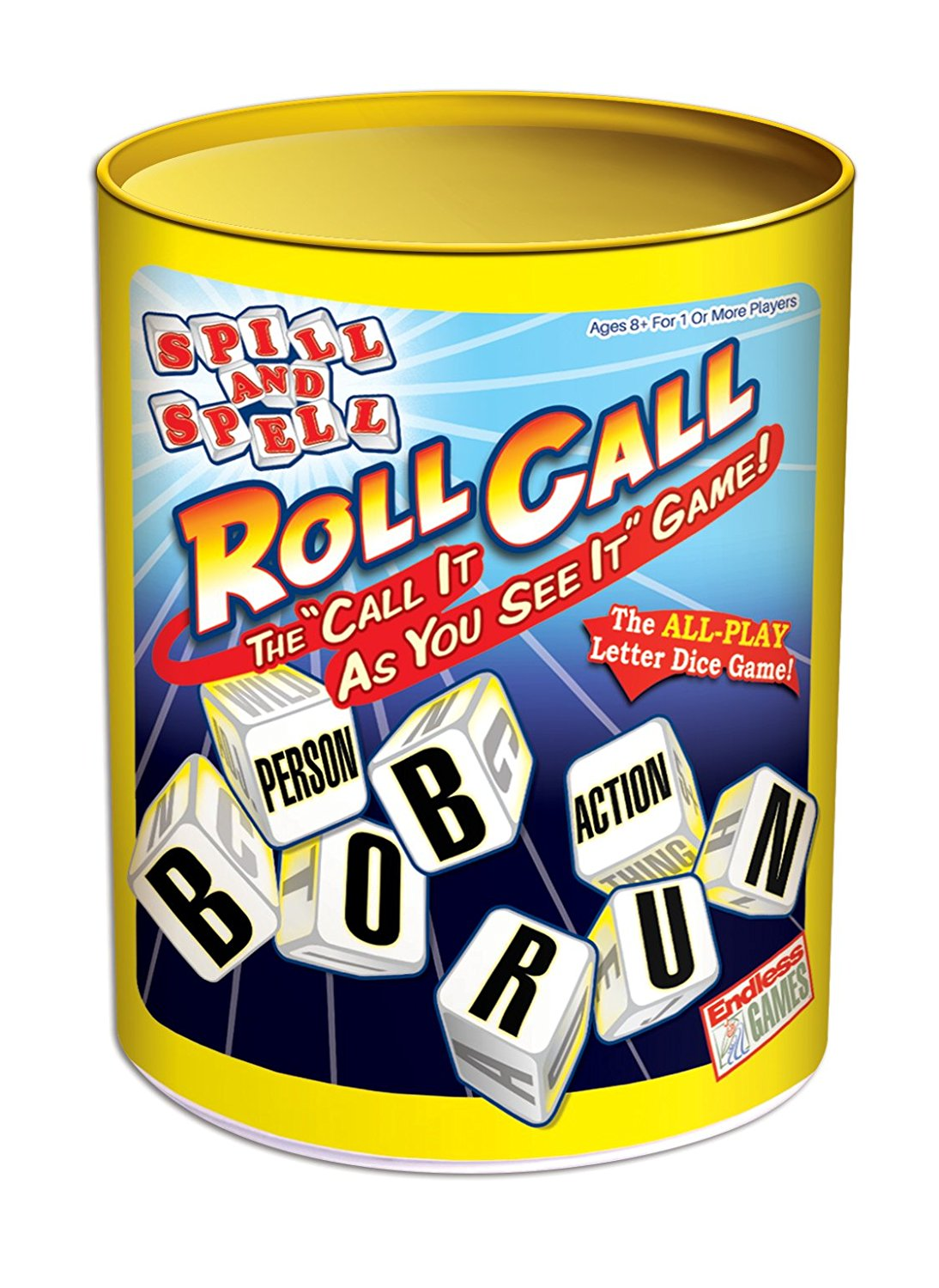 Spill and Spell Roll Call Board Game, Everyone plays By Endless Games by