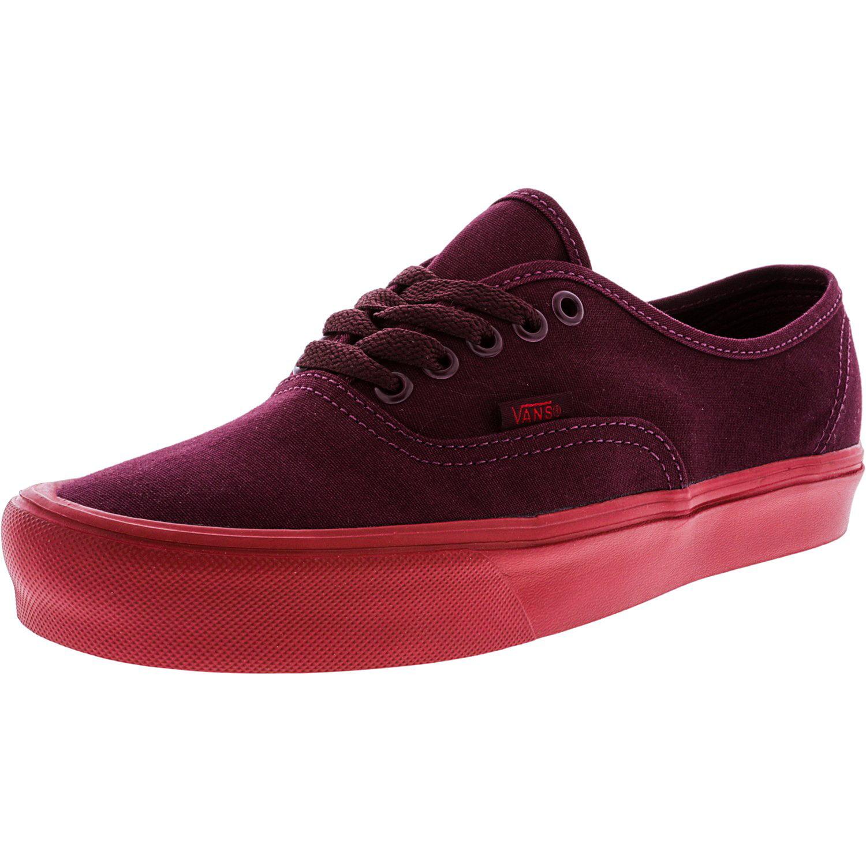 b48ba26f5b3e Vans - Vans Authentic Lite Pop Sole Port Royale   Red Ankle-High Canvas Skateboarding  Shoe - 10M 8.5M - Walmart.com
