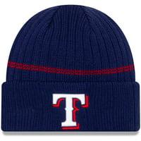 Texas Rangers New Era Primary Logo On-Field Sport Cuffed Knit Hat - Navy - OSFA