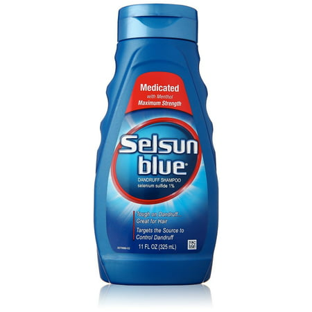 Selsun Blue Medicated Maximum Strength Dandruff Shampoo, 11 (Best Shampoo For Hard Water In India)
