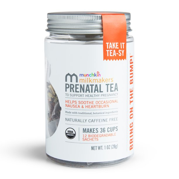 Milkmakers Organic Prenatal Tea for Morning Sickness & Nausea Relief, With Ginger...