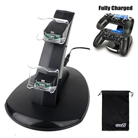Eeekit For Sony Ps4 Playstation Gaming Controller Dual Usb Led Station Dock Fast Charging Stand
