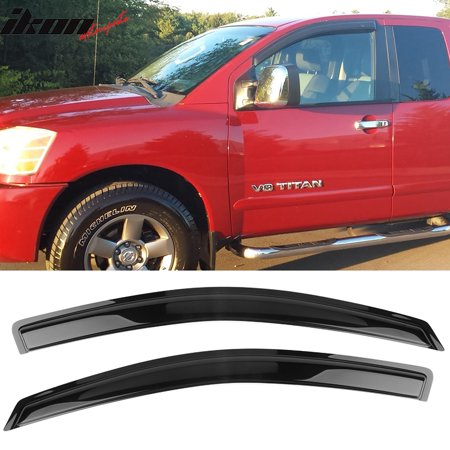 Compatible with 04-15 Nissan Titan King Cab Acrylic Window Visors 2Pc