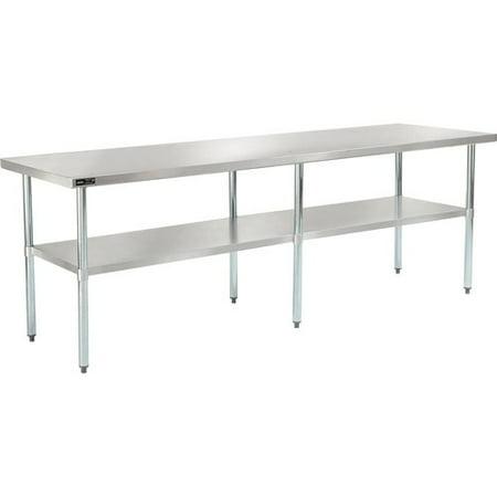 Nexel 96''W Stainless Steel Top Workbench