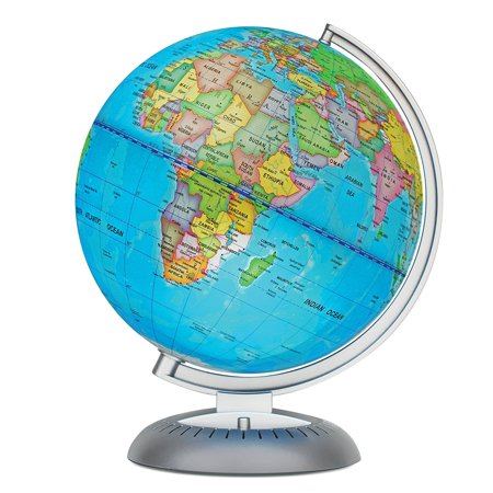 Illuminated World Globe for Kids With Stand, Built in LED