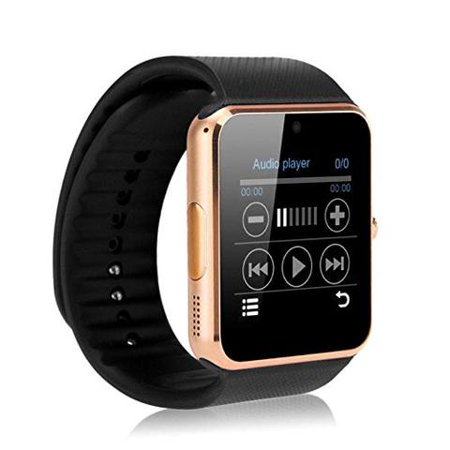 Gold Bluetooth Smart Wrist Watch Phone mate for Android Samsung HTC LG Touch Screen with